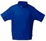Holy Spirit Catholic School - Unisex Interlock Knit Polo Shirt with Banded Bottom - Short Sleeve