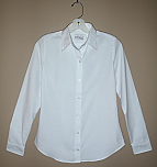 Holy Innocents School - Women's Fitted Oxford Dress Shirt with Dress Collar - Long Sleeve