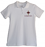 St. Hubert School - Girls Fitted Interlock Knit Polo Shirt - Short Sleeve