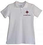 St. Hubert School - Girls Fitted Interlock Knit Polo Shirt - Short Sleeve