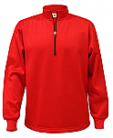 St. John the Baptist - Vermillion - A+ Performance Fleece Sweatshirt - Half Zip Pullover