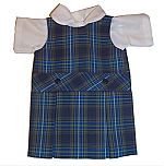 18 Inch Doll Jumper - Drop Waist with Peter Pan Blouse - Plaid #27