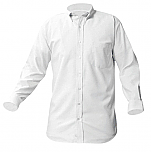DeLaSalle High School - Boys Oxford Dress Shirt - Long Sleeve - White with Logo