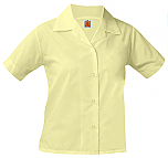 Girls Classic Collar Blouse - Short Sleeve - Yellow