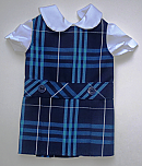 18 Inch Doll Jumper - Drop Waist with Peter Pan Blouse - Plaid #03
