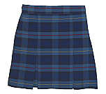 Traditional Waist Skirt - Box Pleats - Polyester/Cotton - Plaid #41