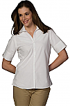 Spire Credit Union - Women's Poplin Blouse - Short Sleeve