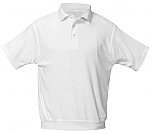 St. Jude of the Lake - Unisex Interlock Knit Polo Shirt with Banded Bottom - Short Sleeve