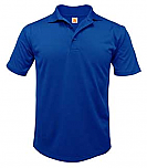 Our Lady of the Lake - Unisex Performance Knit Polo Shirt - Moisture Wicking - 100% Polyester - Short Sleeve