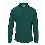 Hill-Murray School - Unisex Performance Knit Polo Shirt - Moisture Wicking - 100% Polyester - Long Sleeve