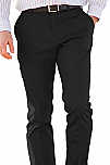 Men's Flat Front Slim Chino Pants - Black