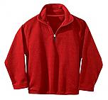 French American School of Minneapolis - Unisex 1/2 Zip Microfleece Pullover Jacket - Elderado