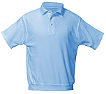 Our Lady of Peace - Unisex Interlock Knit Polo Shirt with Banded Bottom - Short Sleeve