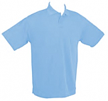 French American School of Minneapolis - Unisex Performance Knit Polo Shirt - Moisture Wicking - 100% Polyester - Short Sleeve