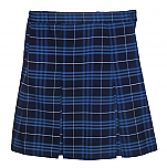 #3403 Box Pleat Skirt - 100% Polyester - Plaid #03