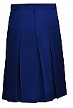 #1143/1943 Knife Pleat Skirt - Traditional Waist - Poly/Rayon - Navy Blue
