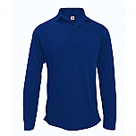 St. Pascal Regional Catholic School - Unisex Performance Knit Polo Shirt - Moisture Wicking - 100% Polyester - Long Sleeve