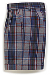 Girls Plaid Twill Shorts - Pleated Front - #4085