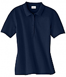 Trinity First Lutheran School - Ladies' Pique Polo Shirt - Hanes - Staff