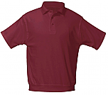 St. Hubert School - Unisex Interlock Knit Polo Shirt with Banded Bottom - Short Sleeve