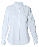 Women's Fitted Oxford Dress Shirt - Long Sleeve - White