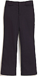 Girls Mid-Rise Flat Front Pants - Flare Leg - Stretch - #4056 - Navy Blue
