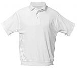 Academy of Holy Angels - Unisex Interlock Knit Polo Shirt with Banded Bottom - Short Sleeve