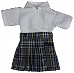 18 Inch Doll Plaid #42 Skirt & Blouse