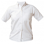 Girls Oxford Dress Shirt - Short Sleeve - White
