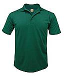 Faithful Shepherd Catholic School - Boys' Performance Knit Polo Shirt - Moisture Wicking - 100% Polyester - Short Sleeve