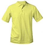 Unisex Interlock Knit Polo Shirt - Short Sleeve - Yellow