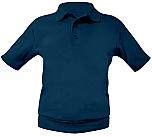 St. Michael Catholic School - Prior Lake - Unisex Interlock Knit Polo Shirt with Banded Bottom - Short Sleeve
