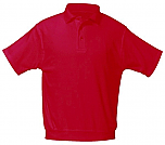 Yinghua Academy - Unisex Interlock Knit Polo Shirt with Banded Bottom - Short Sleeve