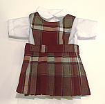 18 Inch Doll Jumper - Round Neck, Knife Pleats with Blouse - #91 Plaid