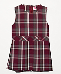 Drop Waist Jumper - Box Pleats - Poly/Cotton - Plaid #54