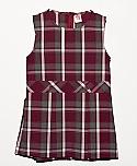 Drop Waist Jumper - Box Pleats - Poly/Cotton - Plaid #54