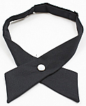 Girls Crossover Neck Tie - Navy Blue