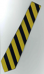Neck Tie - Regular - Navy & Gold Stripes
