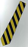 Neck Tie - Regular - Navy & Gold Stripes