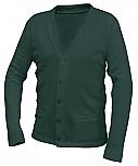 St. Luke the Evangelist - Unisex V-Neck Cardigan Sweater with Pockets