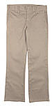 Girls Mid-Rise Slim Fit, Straight Leg Flat Front Pants with Stretch #2527 - Khaki