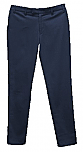 Girls Mid-Rise Slender Fit Flat Front Pants with Stretch #2526 - Navy Blue