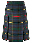 #3455 Box Pleat Skirt - Polyester/Cotton - Plaid #55