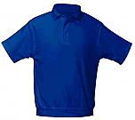 St. Jude of the Lake - Unisex Interlock Knit Polo Shirt with Banded Bottom - Short Sleeve