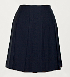 Drop Waist Skirt - Knife Pleats - Navy Blue