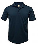 St. John the Baptist Catholic School - Savage - Unisex Performance Knit Polo Shirt - Moisture Wicking - 100% Polyester - Short Sleeve