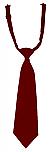 Pre-Tied Neck Tie - Burgundy