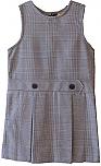 #94 Drop Waist Jumper - Box Pleats - 100% Polyester - Plaid #38