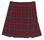 #3470 Box Pleat Skirt - 100% Polyester - Plaid #70