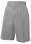 Boys Twill Shorts - Pleated Front - Grey